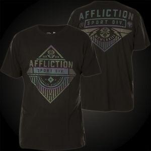 Black Attack uomo T Affliction Maglietta shirt da Sport Sqnw8ZTvU