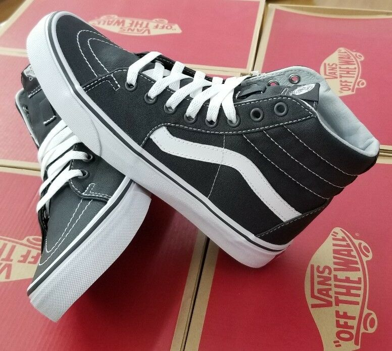 VANS MEN SK8-HI CANVAS VN0A32QGMX1 ASPHALT MEN VANS 19255b