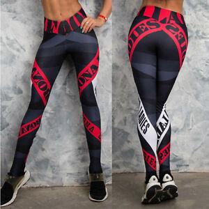 New-Women-Leggings-Running-Yoga-Workout-Gym-Floral-Pants-Sport-Activewear-BD