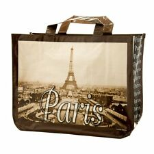 Paris Eiffel Tower Large Shopping Bag, French Design, Strong and Reusable Bag