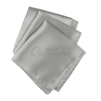 100pc Satin Square Dinner Table Cloth Napkins Wedding Handkerchief Multi Purpose