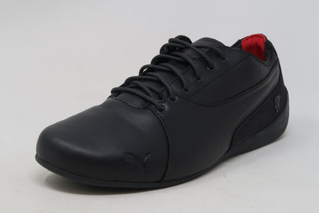 96becda64a PUMA Ferrari Drift Cat 7 Lifstyle Black Leather Lace Up Sneakers Adult Men  Shoes