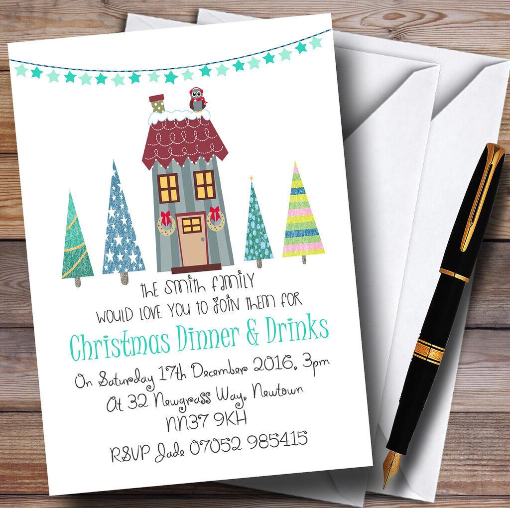 Reindeer Personalised Christmas Party Invitations