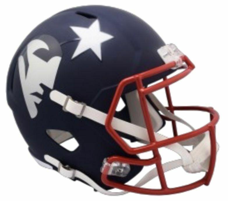 New England Patriots Riddell AMP Alternate Mini Speed Helmet PRE-ORDER