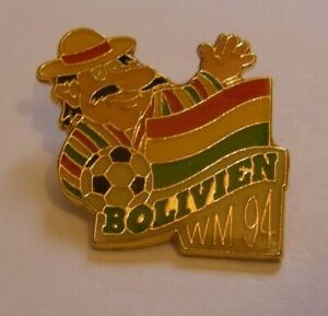WORLD-CUP-94-USA-SOCCER-BOLIVIA-Limited-Edition-500-vintage-pin-badge-Z8J
