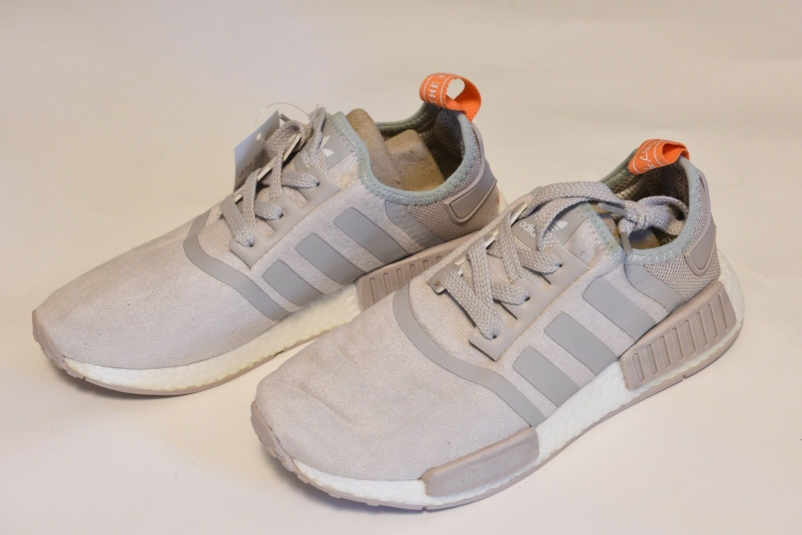 ADIDAS NMD RUNNER GREY SALMON PINK SIZE 7