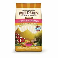 Whole Earth Farms Grain Free Small Breed Chicken & Turkey Recipe Dry Dog Food, 4