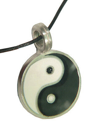 Yin and Yang 2 piece pewter pendant neclace 1860B BUTW