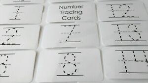 Laminated Cursive Alphabet Finger Tracing Cards.