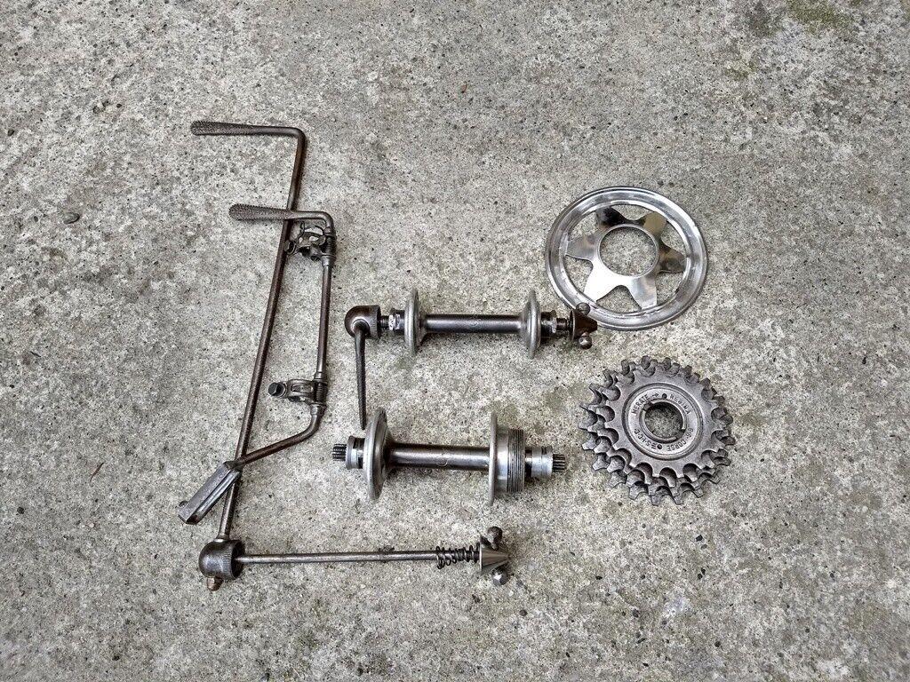 CAMPAGNOLO CAMBIO CORSA open C  hubs rear derailleur freewheel old vintage  be in great demand