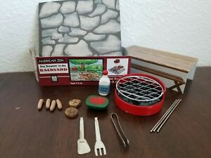 toy American Zen Backyard Bar B Que Set Miniature Desktop ...