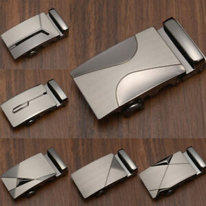 Classique-Alliage-Automatique-Boucle-Homme-Cuir-Boucle-Boucle-De-Ceinture-Boucle-de-ceinture