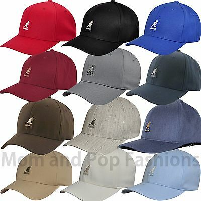 Kangol Logo 8650BC Wool Blend Flexfit Baseball Cap 8 Colors S M L XL XXL