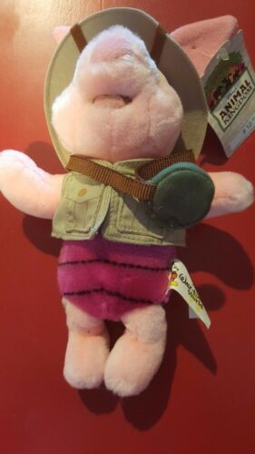 a Disney Animal Kingdom Safari Piglet Bean Bag Beanie Original Tags