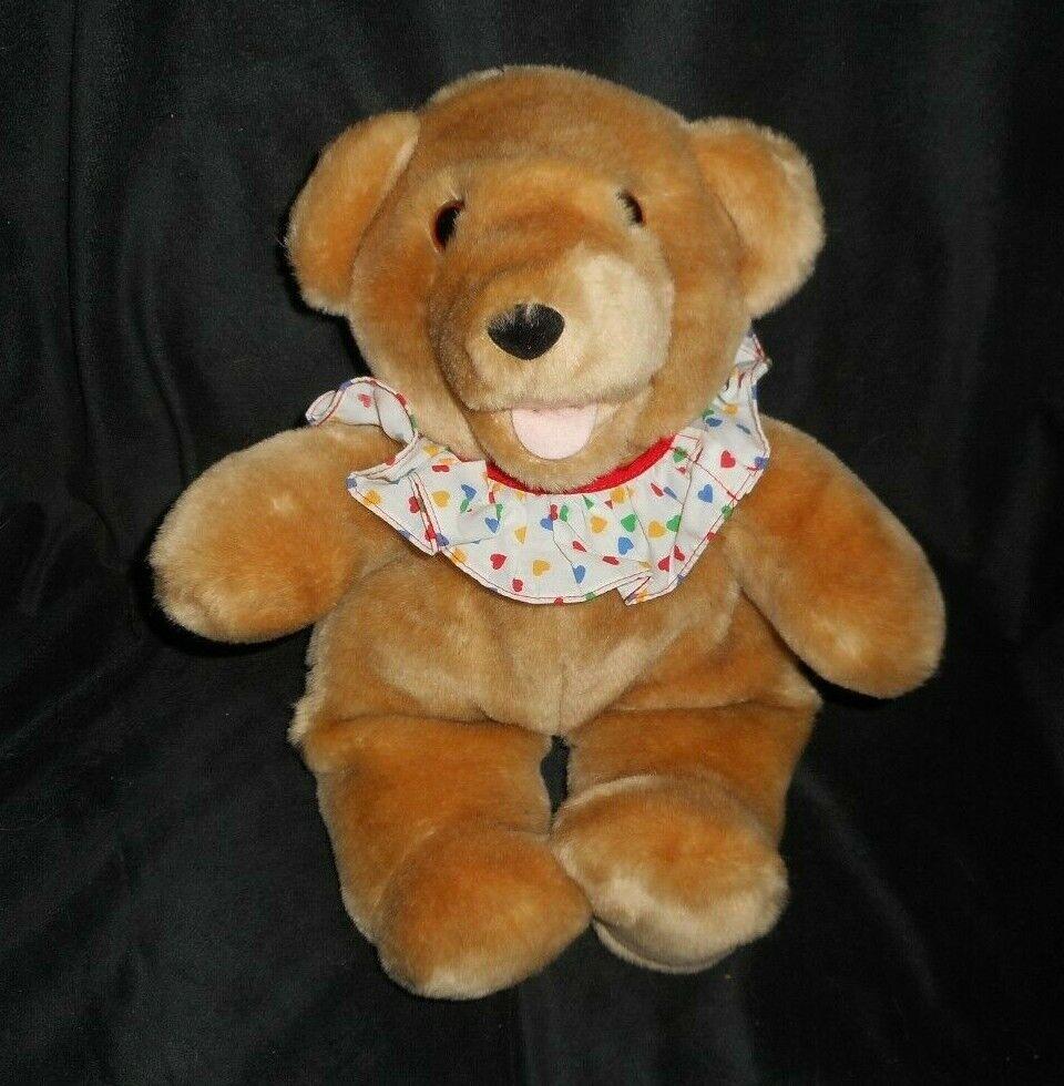 13  VINTAGE 1986 AXLON BROWN TEDDY BEAR STUFFED ANIMAL PLUSH TOY W  TALKING BOX