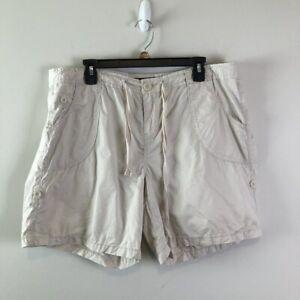 Calvin Klein Jeans Womens Khaki Convertible Shorts Size 16 Casual Drawstring