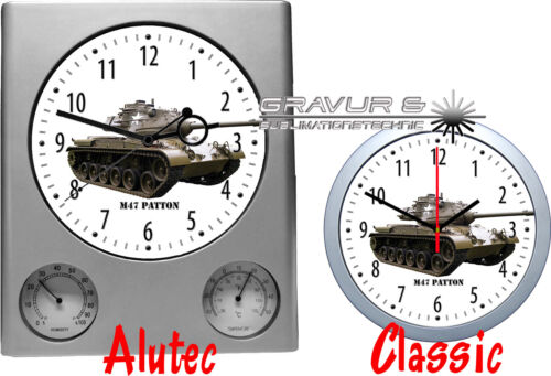 Panzer Tank Wanduhr mit Motiv