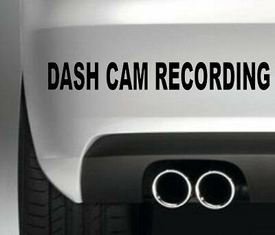DASH CAMERA RECORDING STICKER FOR CAR BODYWORK WNDOW SECURITY POLICE PROTECTION