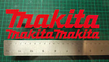 3x MAKITA Stickers decals, toolbox tool box tools replacement builder drill case