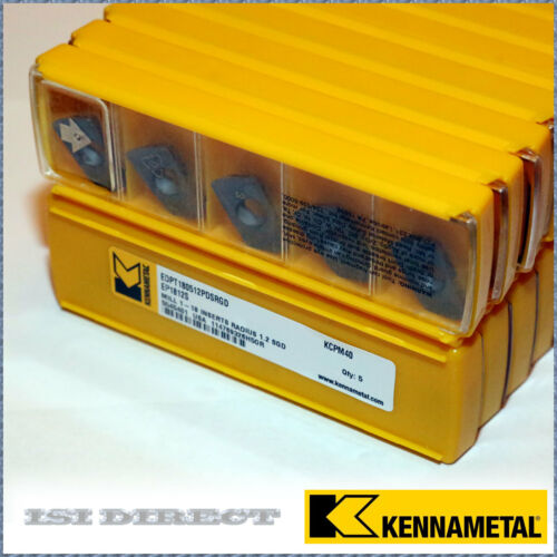 EP1812S KCPM40 EDPT 180512PDSRGD KENNAMETAL *** 10 INSERTS *** FACTORY PACK ***