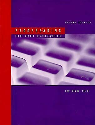 Proofreading for Word Processing by Lee, Jo Ann