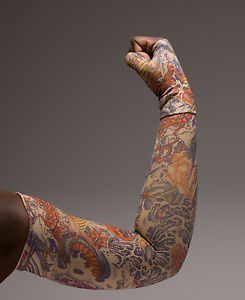 LOTUS-DRAGON-TATTOO-COMPRESSION-SLEEVE-LympheDivas-Unisex-ANY-SZ-Opt-Gaunt-Glove