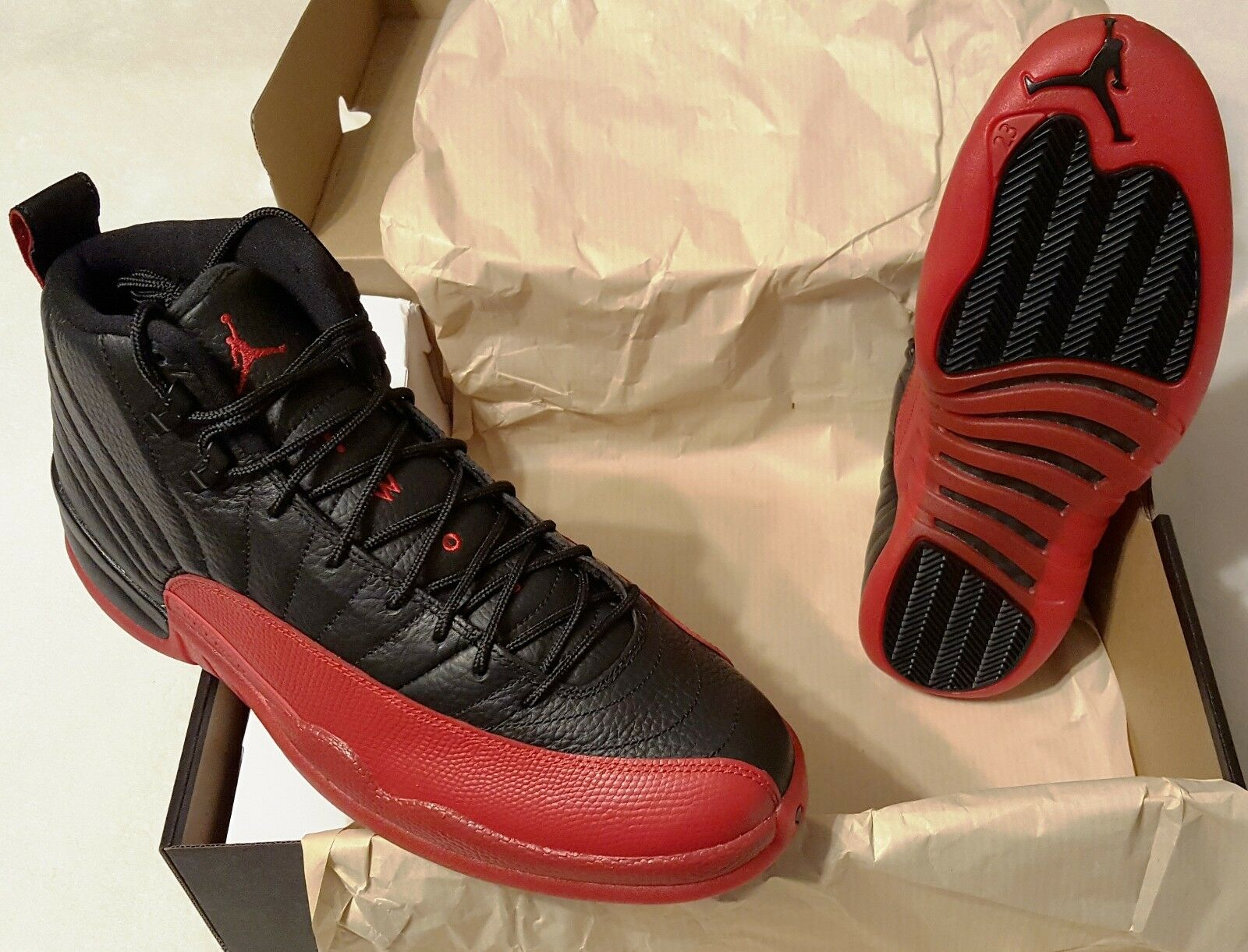 Nike Air Jordan 12 Flu Game New In Box Mens Size 12 Basketball Retro 2016