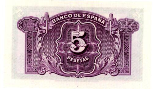 Spain ... P-85 ... 5 Pesetas ... 1936 ... CH*UNC*