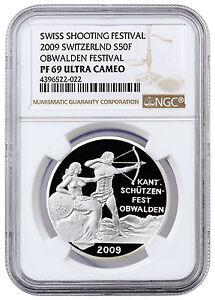 2009-Switzerland-Silver-Shooting-Festival-Thaler-Obwalden-NGC-PF69-UC-SKU41956