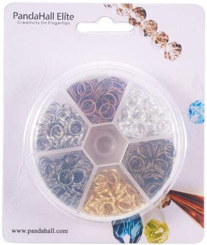 400Pcs 8mm Iron Split Ring Double Loop Jump Ring Diameter for DIY Jewelry Making