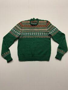 Herren-klein-1950-039-s-hausgemachten-Wolle-Pullover-Vintage