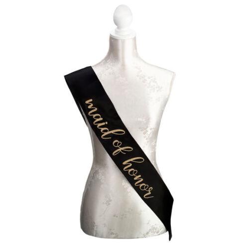 bride,bridesmaid or maid of honor Sash Bridal Shower Bachelorette Party Supplies