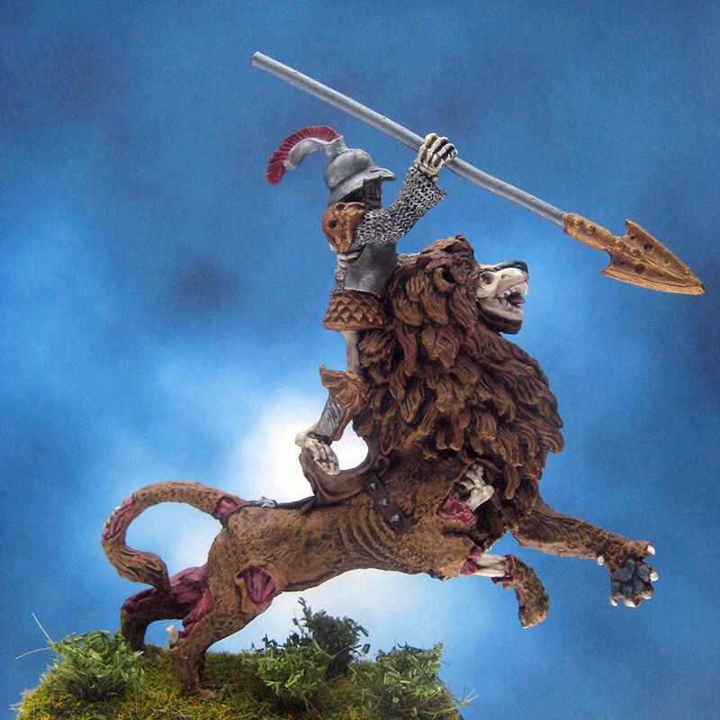Målad skördare Miniatyr War ridande Odöda Lejonet