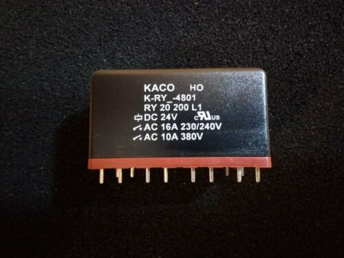 KACO RY/_-4801 Mains Isolating Safety Relay 16A//250VAC 24VDC coil PCB Mounting