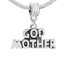 """Godmother "" Charm Bead Spacer for Snake Chain Charm Bracelets"