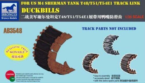 BRONCO AB3548 1//35 Duckbills for US M4 Sherman T48//T61//T54E1 Track Link