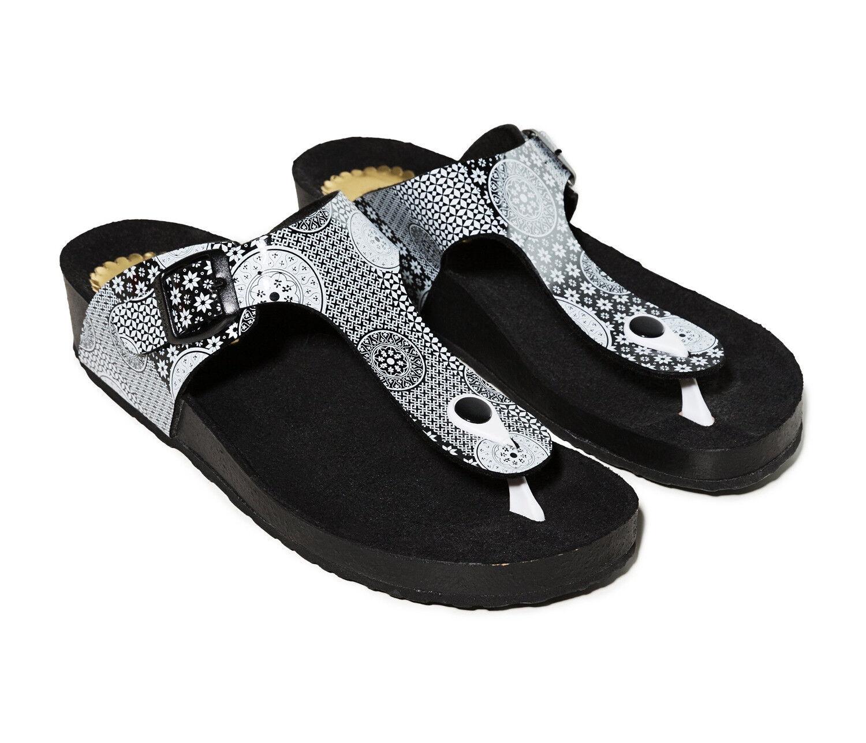 Desigual Zapatos Libra Alhambra Negro, Negro, Negro, Mujer Sandalia Flip Zapato Abierto  lo último