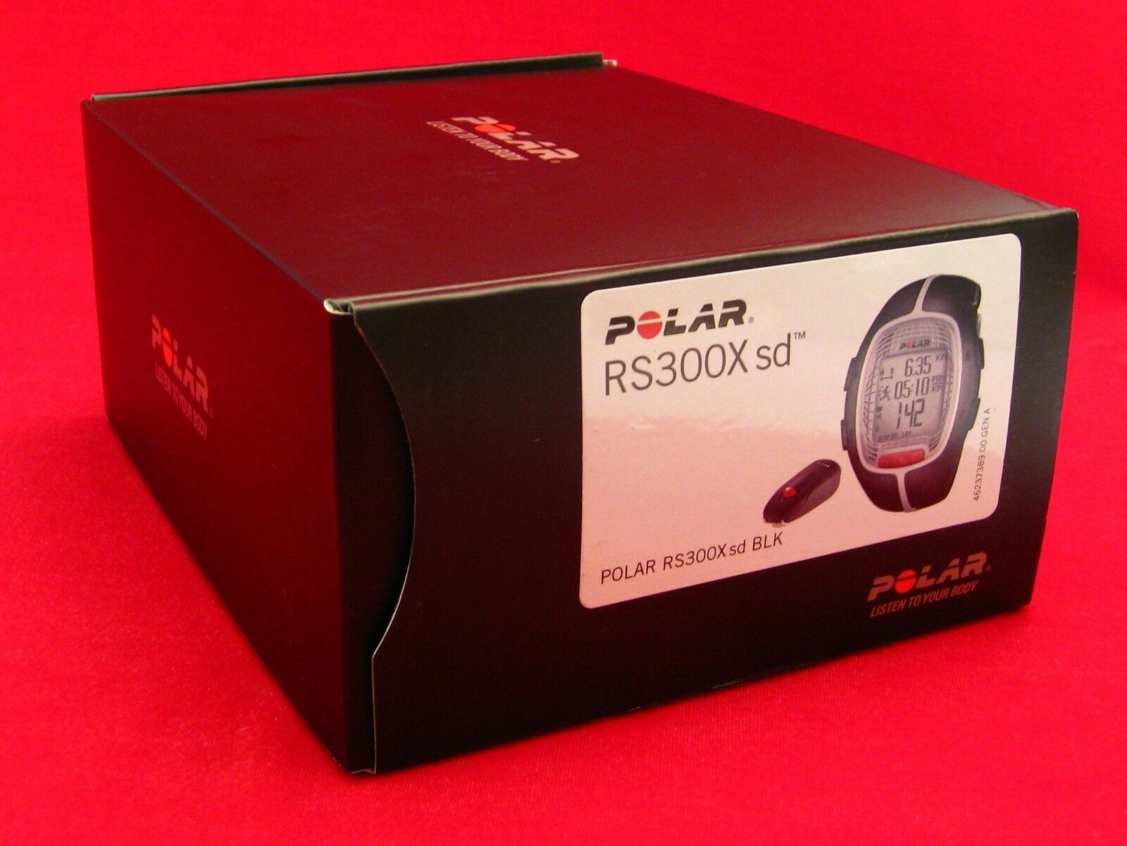 POLAR RS300X SD BLK HEART RATE MONITOR RUNNING BIKE EXERCSE FITNES FREE 90036631