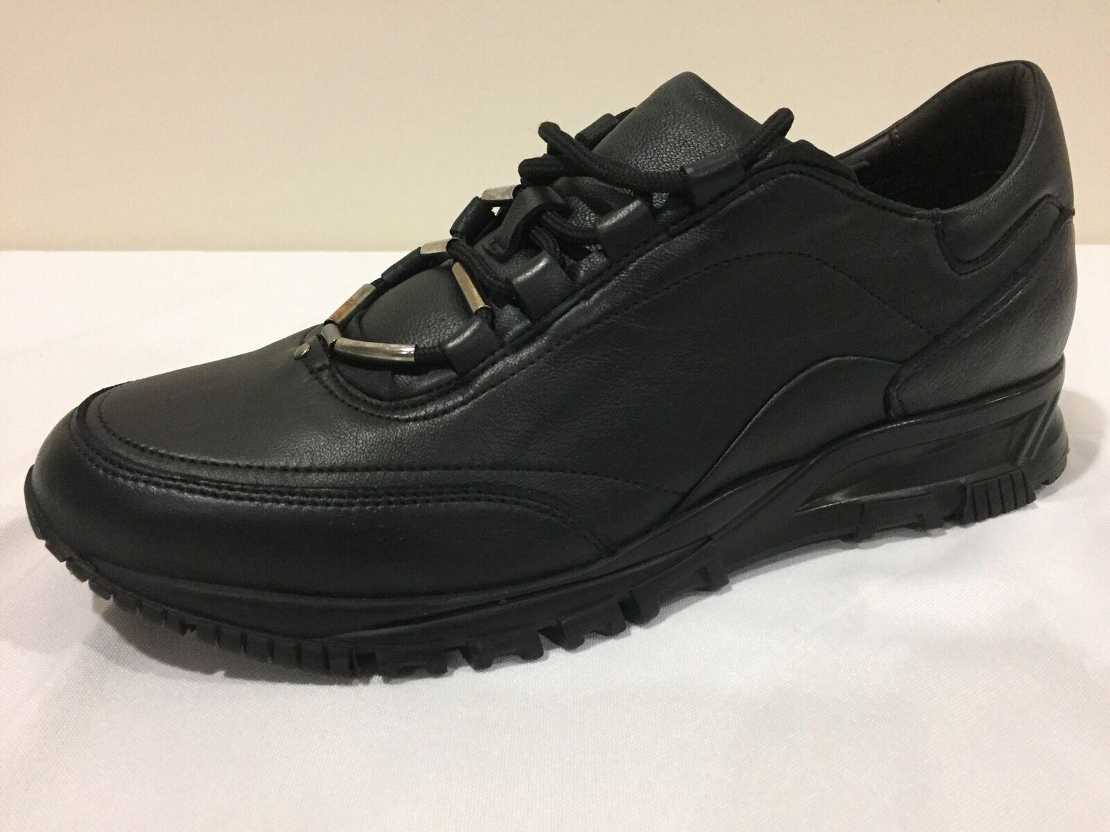 New Lanvin nero Soft Calfskin Calfskin Calfskin Cross-Trainer Runway scarpe da ginnastica Dimensione 8  795.00 4e2dbe
