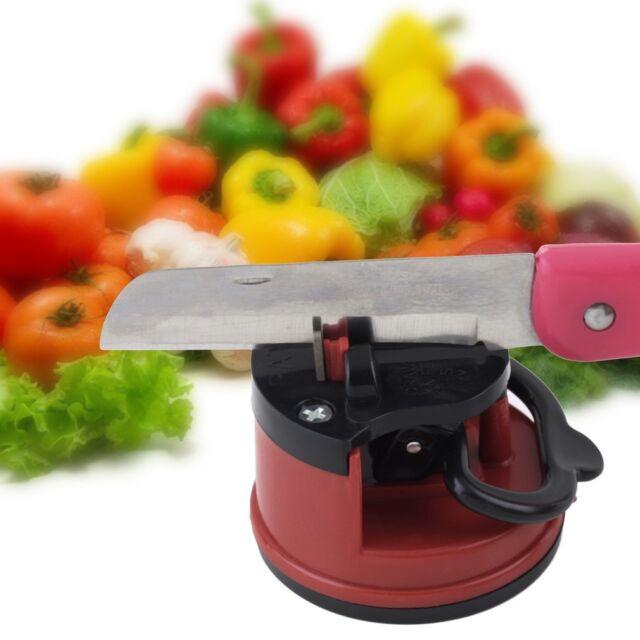 Knife Sharpener Scissors Grinder Secure Suction Chef Kitchen Sharpening Tool LC