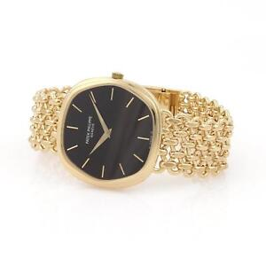 Patek-Philippe-Hexagonal-Automatic-18k-Gold-Men-039-s-Watch-3861-2-Box-amp-Papers