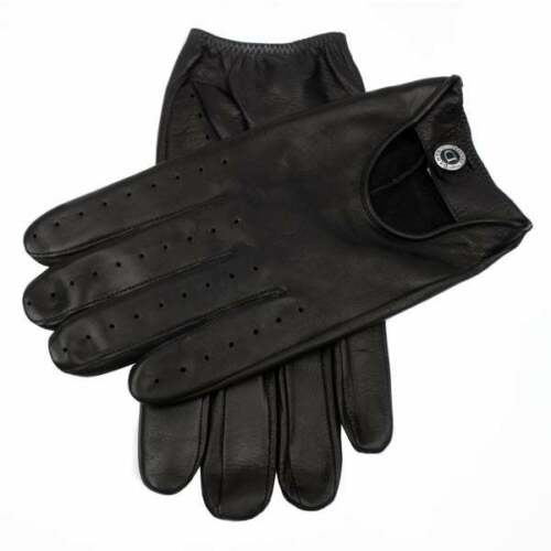 Dents Woburn Men's Leather Driving Gloves Contrast Black Heritage Collection