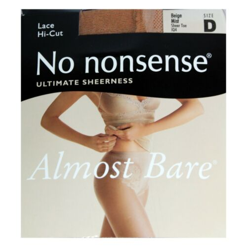 NO NONSENSE* Pair ALMOST BARE Pantyhose LACE HI-CUT Panty *YOU CHOOSE* 1b 1