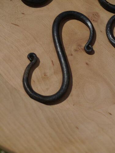 Mittelalter Lager 5 Stück urige S-Haken Eisenhaken Hand geschmiedet 8,2x3,6cm f