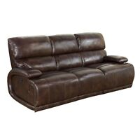 Barcalounger Hudson Ii Power Casual Comfort Reclining Sofa Vermont Bark Leather