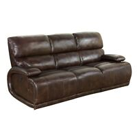 Barcalounger Hudson Ii Power Casual Comfort Reclining Sofa Vermont Bark Leather