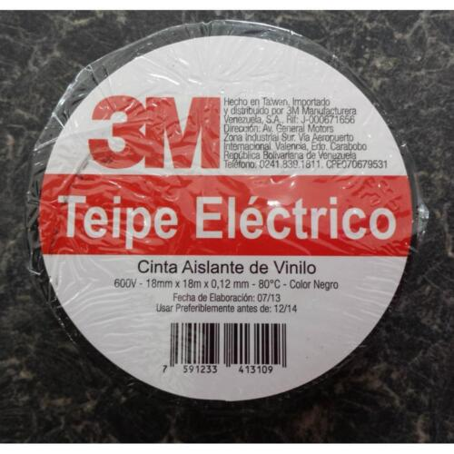X 0.12 MM 80° !!! X 18 MTS 10 ROLLS X 3M BLACK ELECTRICAL TAPE 18 MM