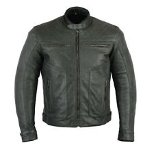 Rksports Gear Mens  Fashion Leather Motorcycle motorbike Jacket with Armour