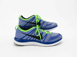 Nike Flyknit One Men Blue Athletic Running Shoes Size 11M Pre Owned ... f44cd08c8