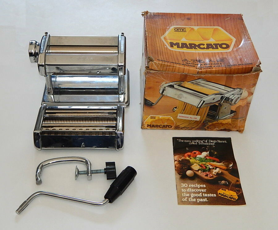 Marcato Atlas Model 150 Lusso OMC Pasta Noodle Maker EUC Made in  R10152